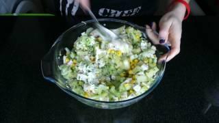 sałatka z selera naciowego z kurczakiem  (salade  selderij met kip )