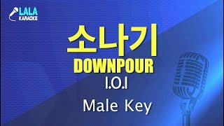 Gambar cover 아이오아이 _ 소나기 (I.O.I - Downpour) (남자키,Male) / LaLa Karaoke 노래방