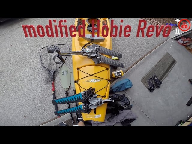 Hobie Revo 16 - Kayak Fishing Setup