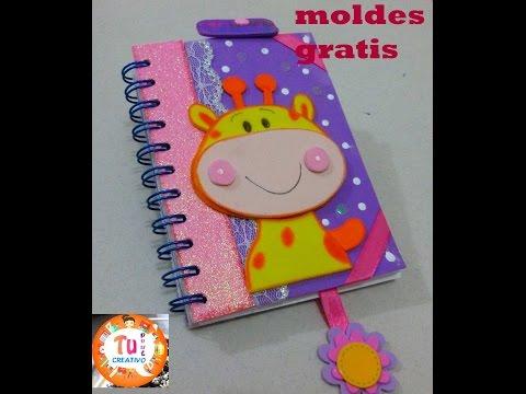 como decorar tus cuadernos con foami,facil - YouTube