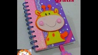 como decorar tus cuadernos con foami,facil