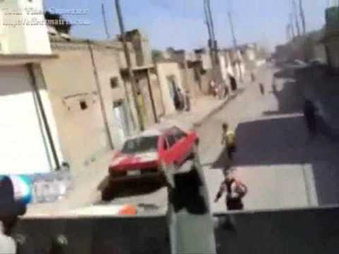 IRAQ children victim of cruelty by a soldier