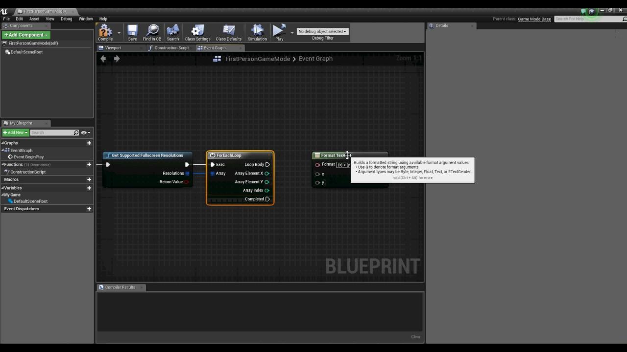 UE4: FullScreen windowless in blueprints
