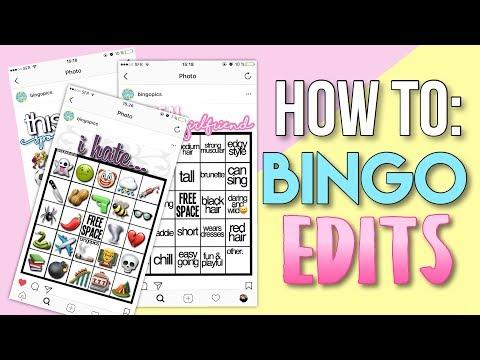 HOW TO: BINGO EDITS   how to make trendy bingo edits for instagram stories✨