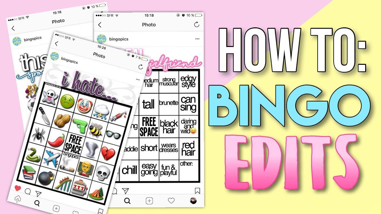 How To Bingo Edits How To Make Trendy Bingo Edits For Instagram