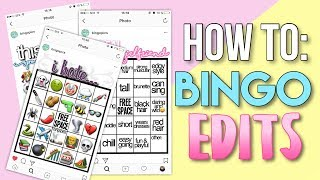 HOW TO: BINGO EDITS | how to make trendy bingo edits for instagram stories✨