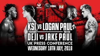KSI VS LOGAN PAUL UK PRESS CONFERENCE (OFFICIAL)
