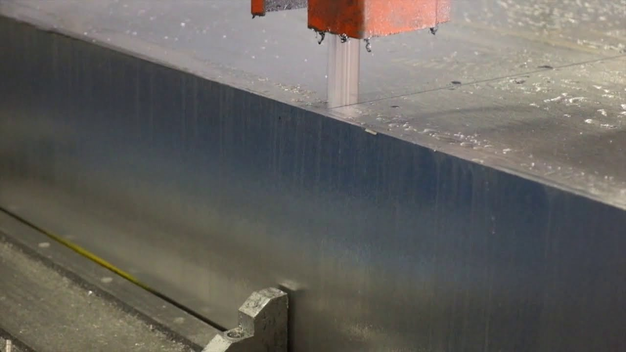 High Speed Cutting Aluminum 11 Quot 7075 Slab Youtube
