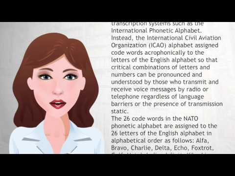 NATO phonetic alphabet - Wiki Videos