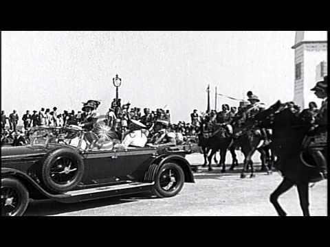 Crown prince of Libya being welcomed by the people in Tripoli in Libya HD Stock Footage