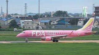 札幌丘珠空港 FDA3号機 エンブラエルERJ-175(ピンク塗装) エンジン始動~離陸 thumbnail