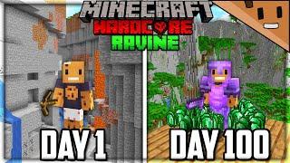 I Survived 100 Days in a MASSIVE RAVINE Only World In Hardcore Minecraft...