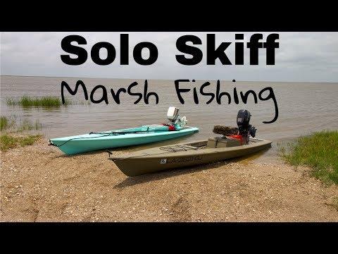 Solo Skiff Texas Marsh Fishing (Sabine Lake)