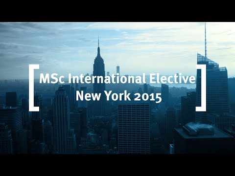 Cass Business School: MSc International Elective, New York 2015