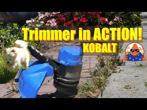 Lowes Kobalt 40Volt WEED GRASS String Trimmer in ACTION 2 5Ah