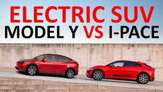 tesla Model Y vs Jaguar I-Pace: Which Electric SUV is Better? + Side by Side Feature Comparison