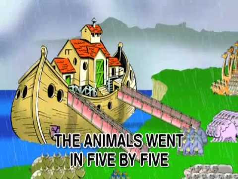 The Animals Went In 2 By 2 - Nursery Rhyme - With Text