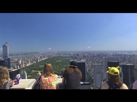 4K Top of the Rock - Rockefeller Center - New York