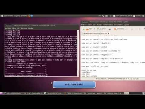 Instalacion y Configuracion de Servidor de VoIP Asterisk