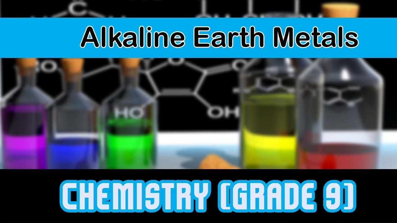 types of element alkaline earth metals second group of modern periodic table