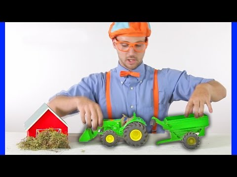 Tractors for Children   Blippi Toys - TRACTOR SONG