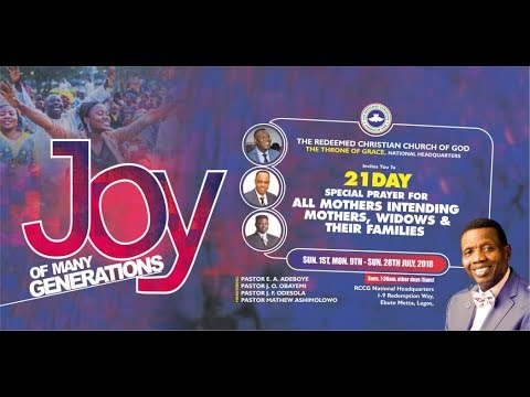 RCCG Chapel of Restoration       Preparing a whole people in an