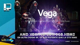 amd vega 10 con 8gb hbm2 mueve a doom en ultra a 4k es ms potente que la gtx 1080