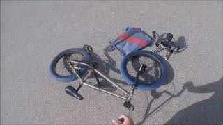 BMX Bombing a Big Hill AND Falling Off A Brick Wall LOL