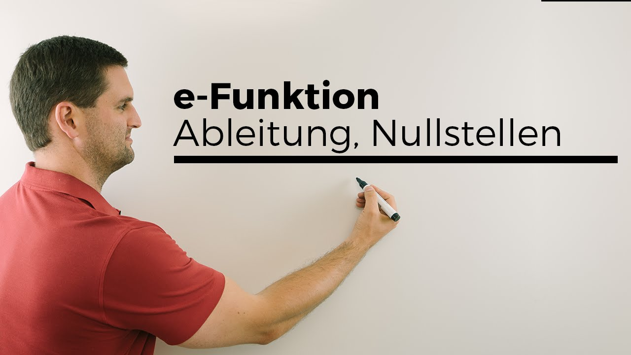 e funktion ableitung nullstellen exponentialfunktion schar parameter mathe by daniel jung. Black Bedroom Furniture Sets. Home Design Ideas