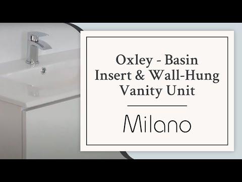 Milano Oxley Basin Insert & Wall Hung Vanity Unit