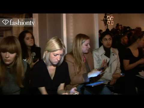 Aquascutum Front Row Fall 2011 London Fashion Week | FashionTV - FTV.com