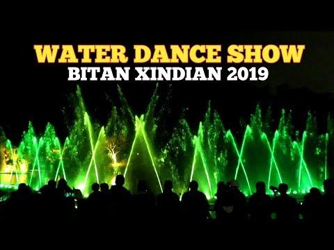 Pertunjukan tarian air di taiwan | bitan xindian taipei 2019
