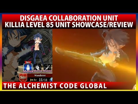 Killia Max LB Lv85 Unit Showcase/Review (The Alchemist Code GLOBAL)