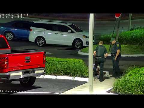 Night Hawk Monitoring Guy Trespassing at Car Dealership