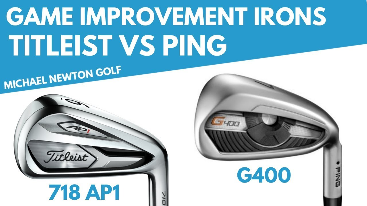Titleist 718 AP1 Iron VS Ping G400 Iron Head To Head - YouTube