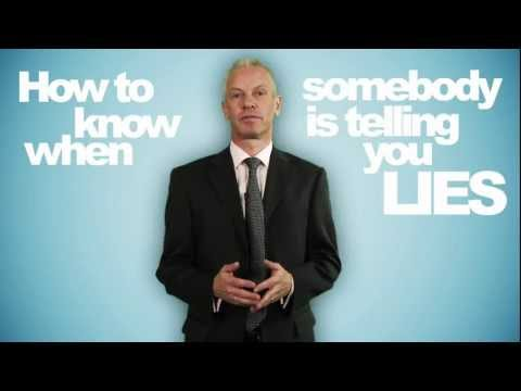 How to tell if someone is lying