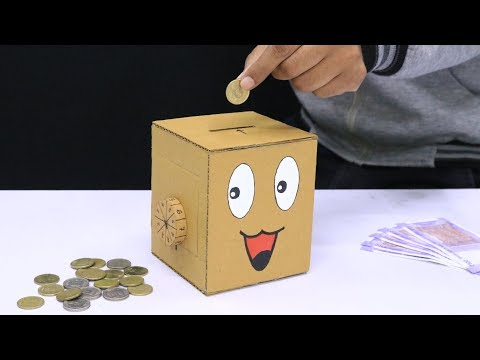 Personal Money Box at Home from Cardboard