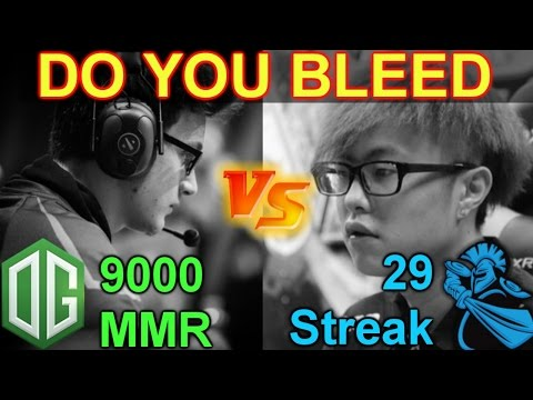 Dota 2 Newbee 29 Winning Streak vs OG 9K MMR : Do You Bleed? @ 3 GAMES