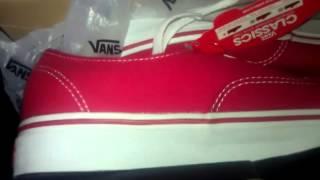 Vans Authentic Red Unboxing