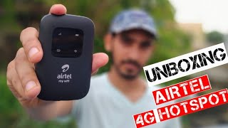 Airtel 4g hotspot unboxing and review/how to use airtel hotspot/Airtel WiFi hotspot