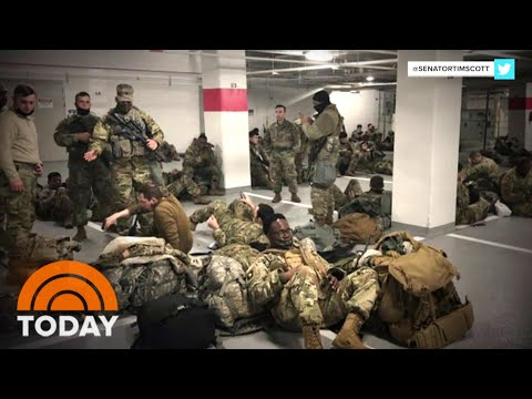 National Guard Troops Back Inside Capitol After Furor Over Move To Parking Garage | TODAY