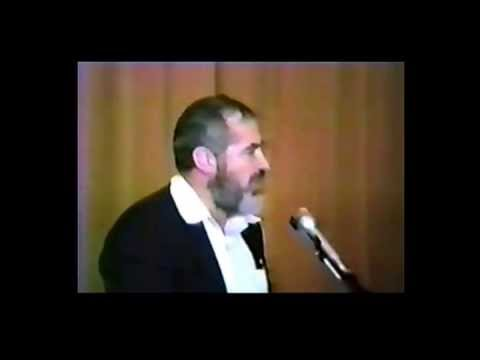 "RABBI KAHANE speaks ~ ""TEMPLE BETH-EL  Newton, MA.~ Part 1  1987"