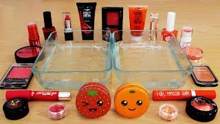 Mixing Makeup Eyeshadow Into Slime! Red vs Orange Special Series Part 44 Satisfying Slime Video