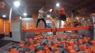BIG AIR TRAMPOLINE PARK MADNESS (WE WERE FIGHTING )