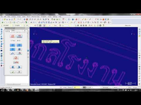 กัดงาน CNC แบบ 2D ด้วยใช้โปรแกรม Mastercam X6