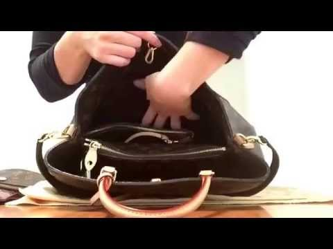 Authentic Louis Vuitton Montaigne Gm . What fits inside my bag - YouTube 46e74adcc0646