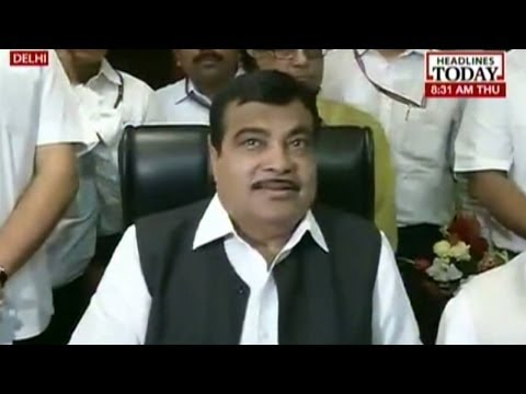 Nitin Gadkari takes charge of Transport and Shipping Ministry