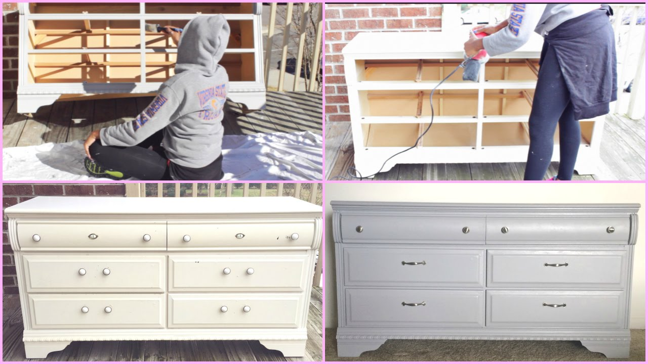 Diy Dresser Makeover Youtube