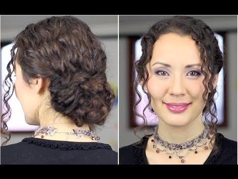 Красивая причёска на длинные вьющиеся волосы просто