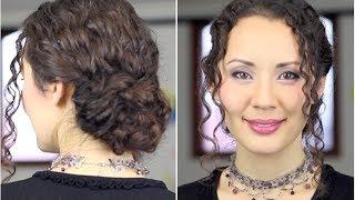 Красивая причёска на длинные вьющиеся волосы просто(Красивая причёска на длинные вьющиеся волосы просто ПРИГЛАШАЮ НА БЕСПЛАТНЫЙ ВЕБИНАР: Быть красивой просто!..., 2013-11-24T19:40:11.000Z)